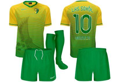k15 kls sokol orzech v1 stroje piłkarskie koszulki spodenki getry
